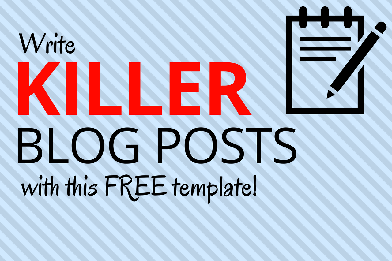 Write killer blog posts with this free template.