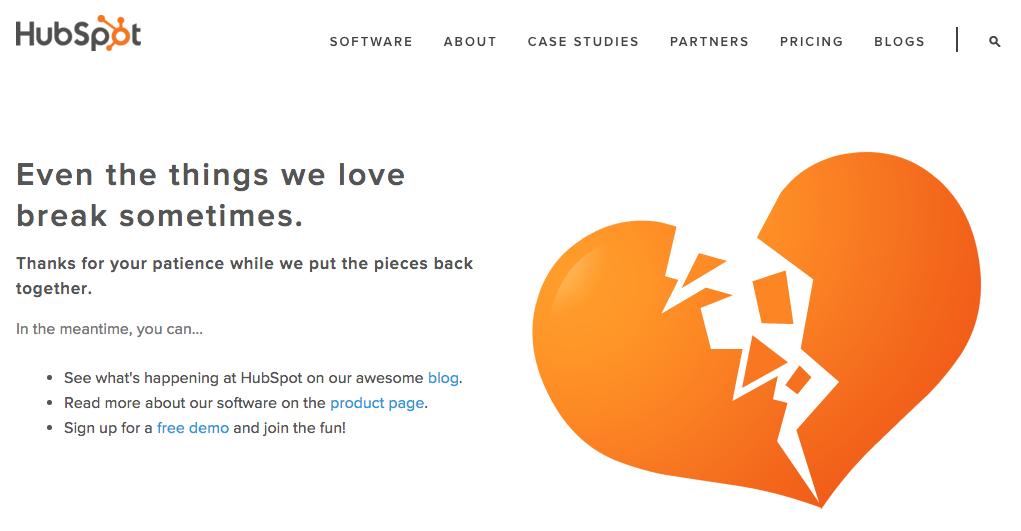 HubSpot Error 404 Page