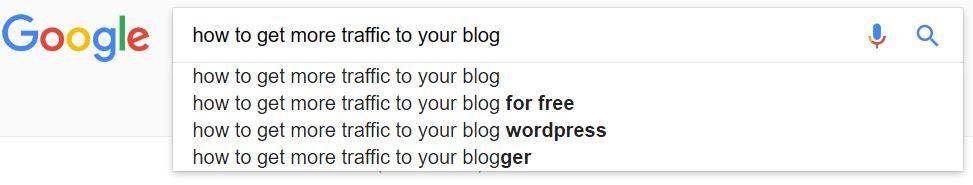 Use Google to find keywords