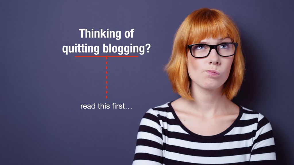 blog post ideas if you're thinking of quitting blogging
