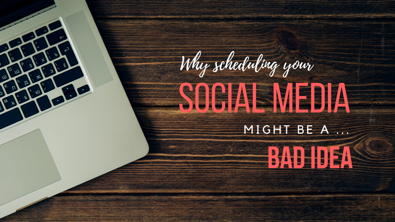 social media scheduling tools bad idea