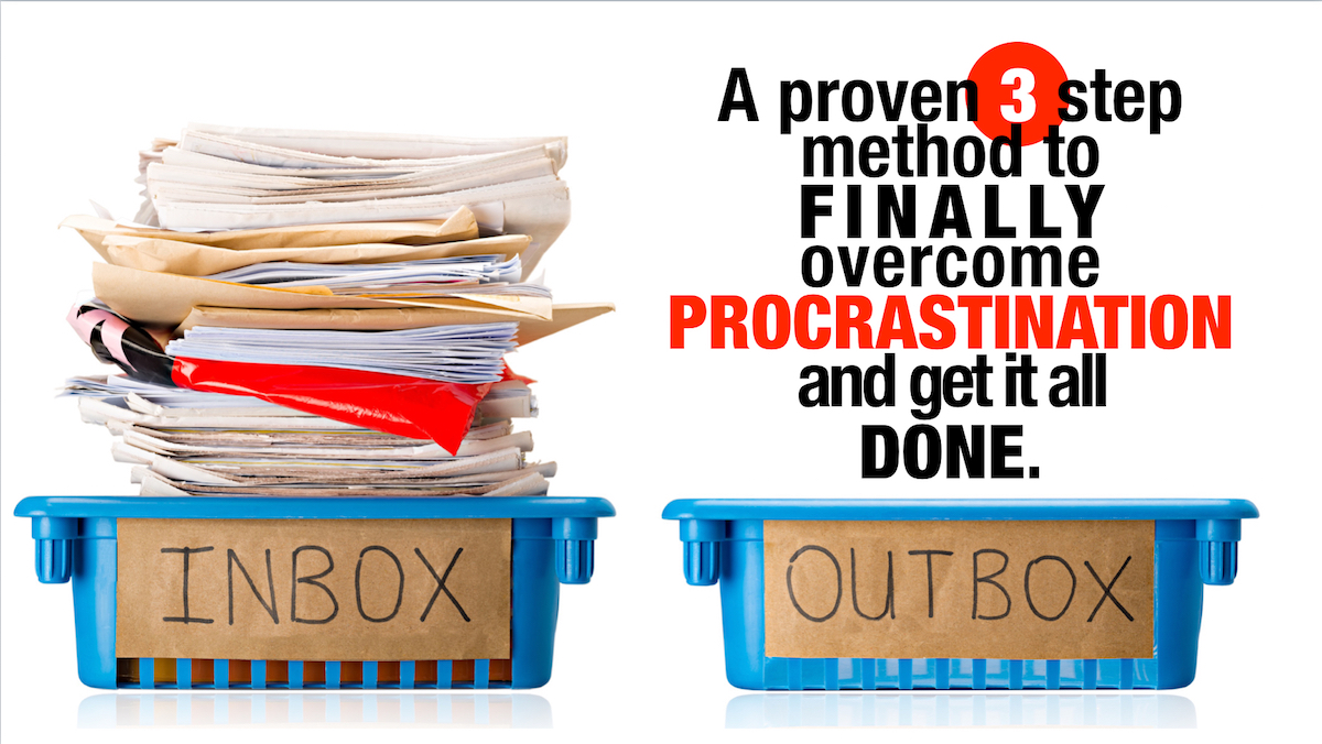 A proven 3 step method to finally overcome procrastination and get it all done.
