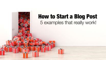 How to start a blog post - 5 examples