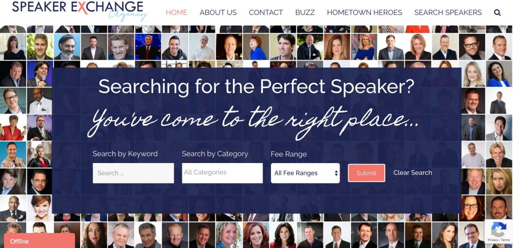 Home page of The Speaker Exchange