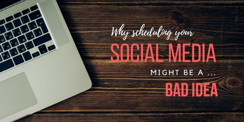 social media scheduling tools bad idea